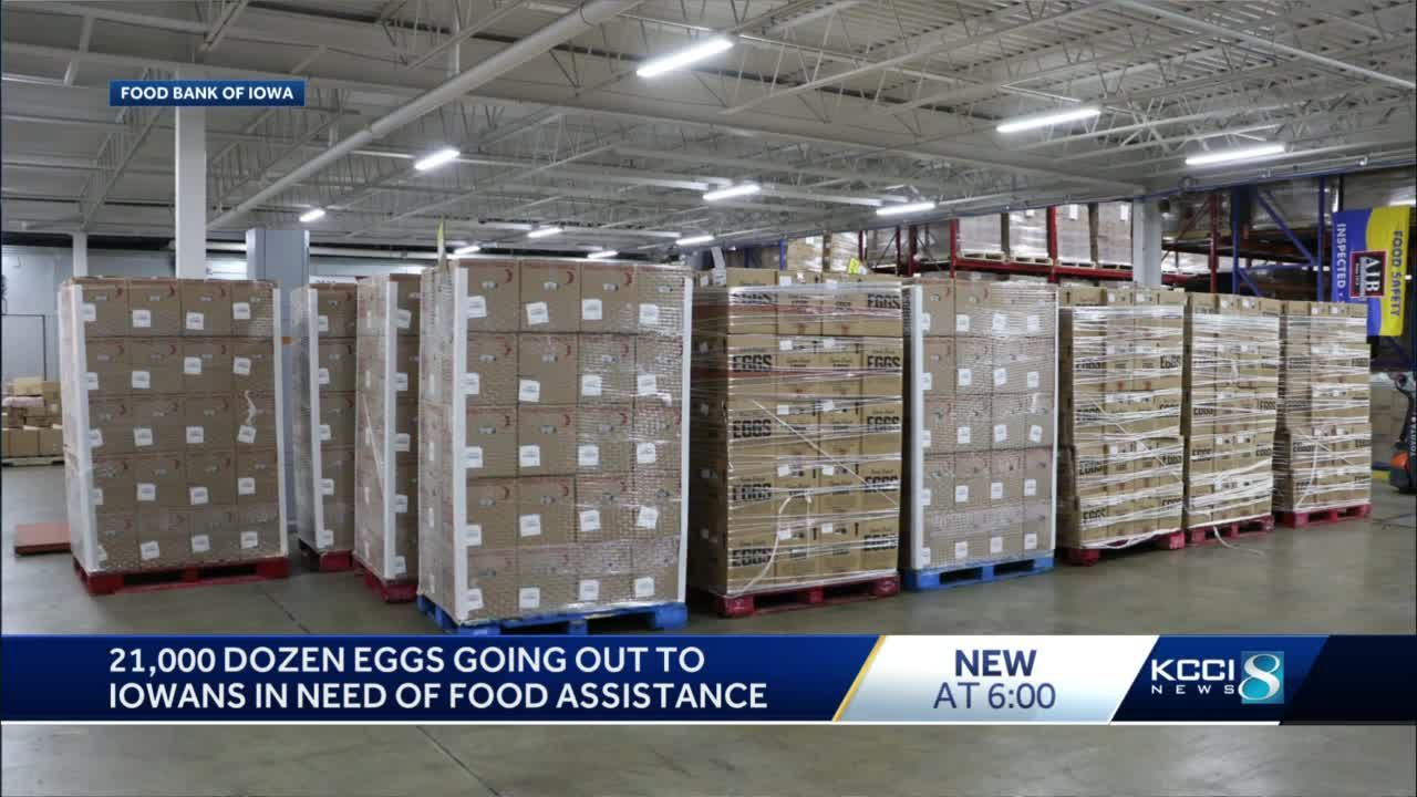 21,000 dozen eggs donated to Food Bank of Iowa