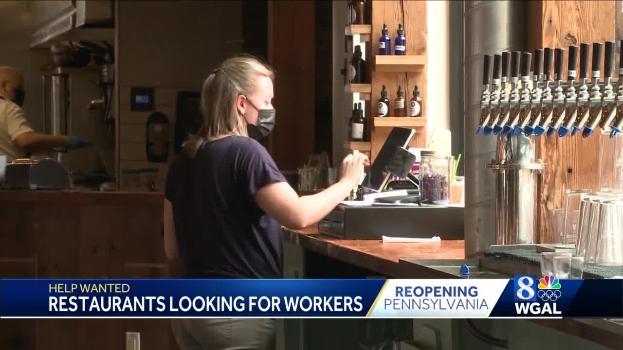 Staffing shortage still a problem as Pa. restaurants prepare to return to full capacity