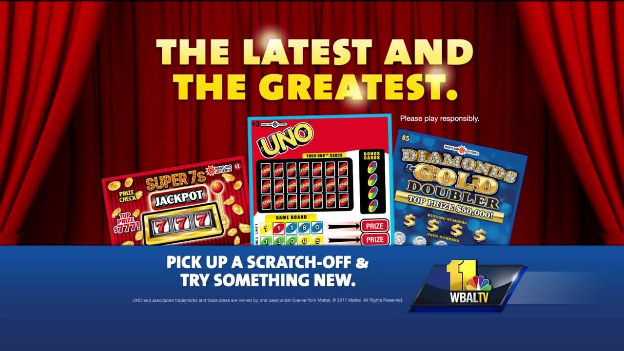 Video: Maryland Lottery has new scratch off tickets!