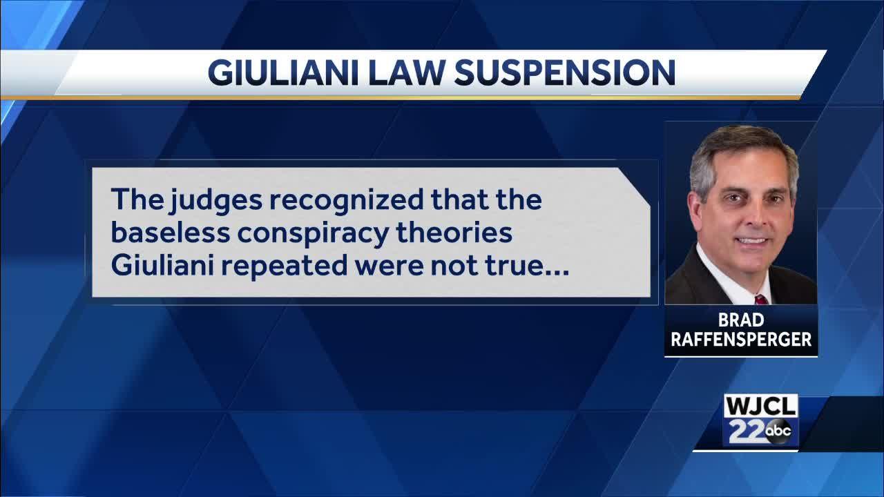 Georgia Secretary of State on Giuliani suspension