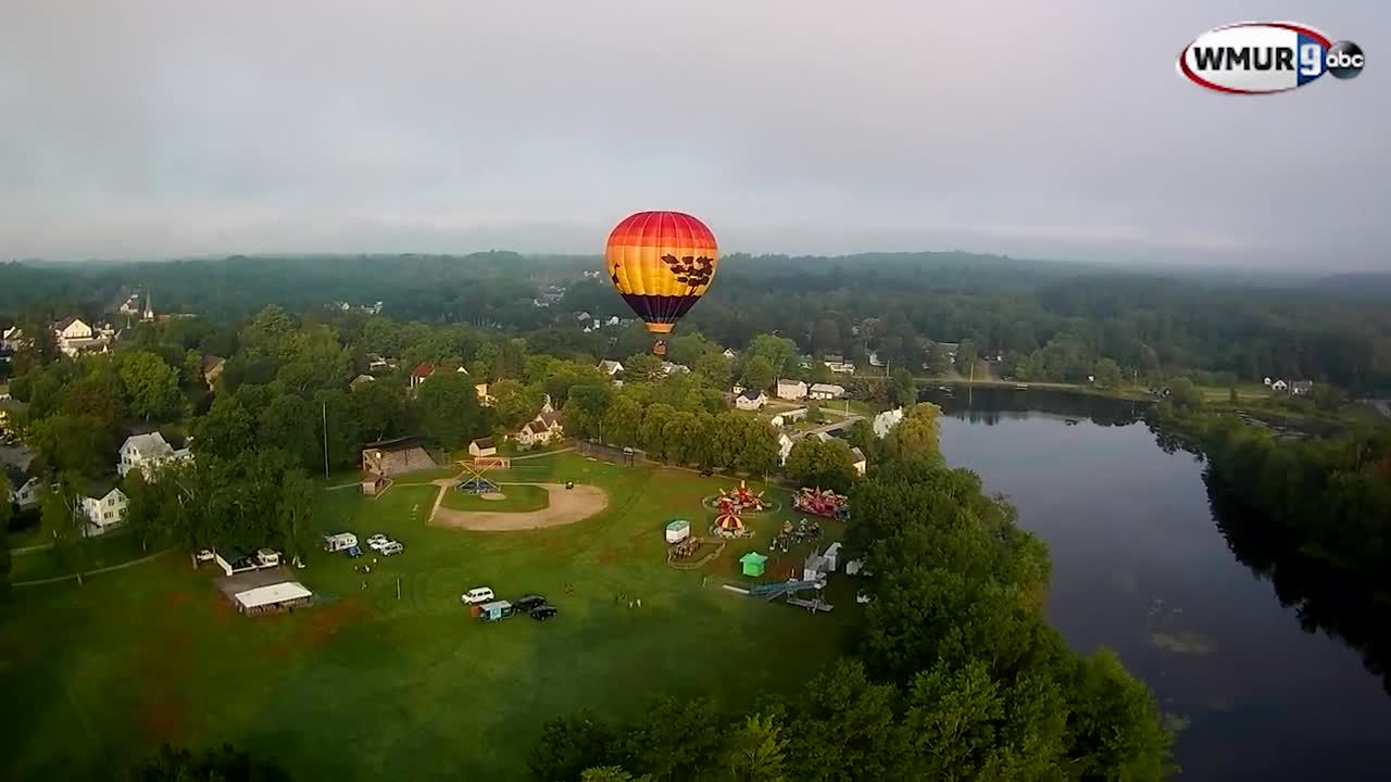 Raw Video Hot Air Balloon Ride In Pittsfield