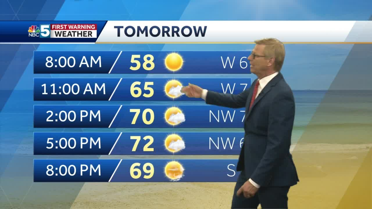 Video: Tom says we'll be warmer Wednesday. 6.22.21