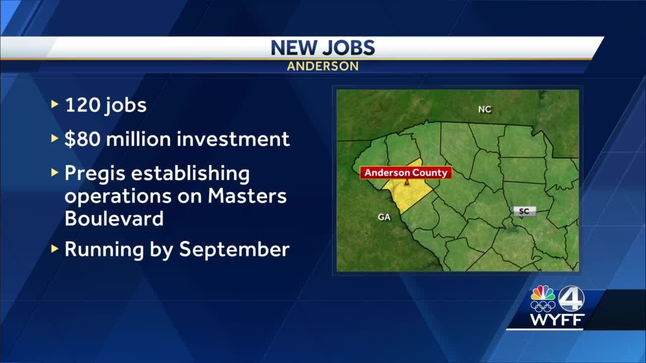 Company announces new plant in Anderson County opening 120 new jobs