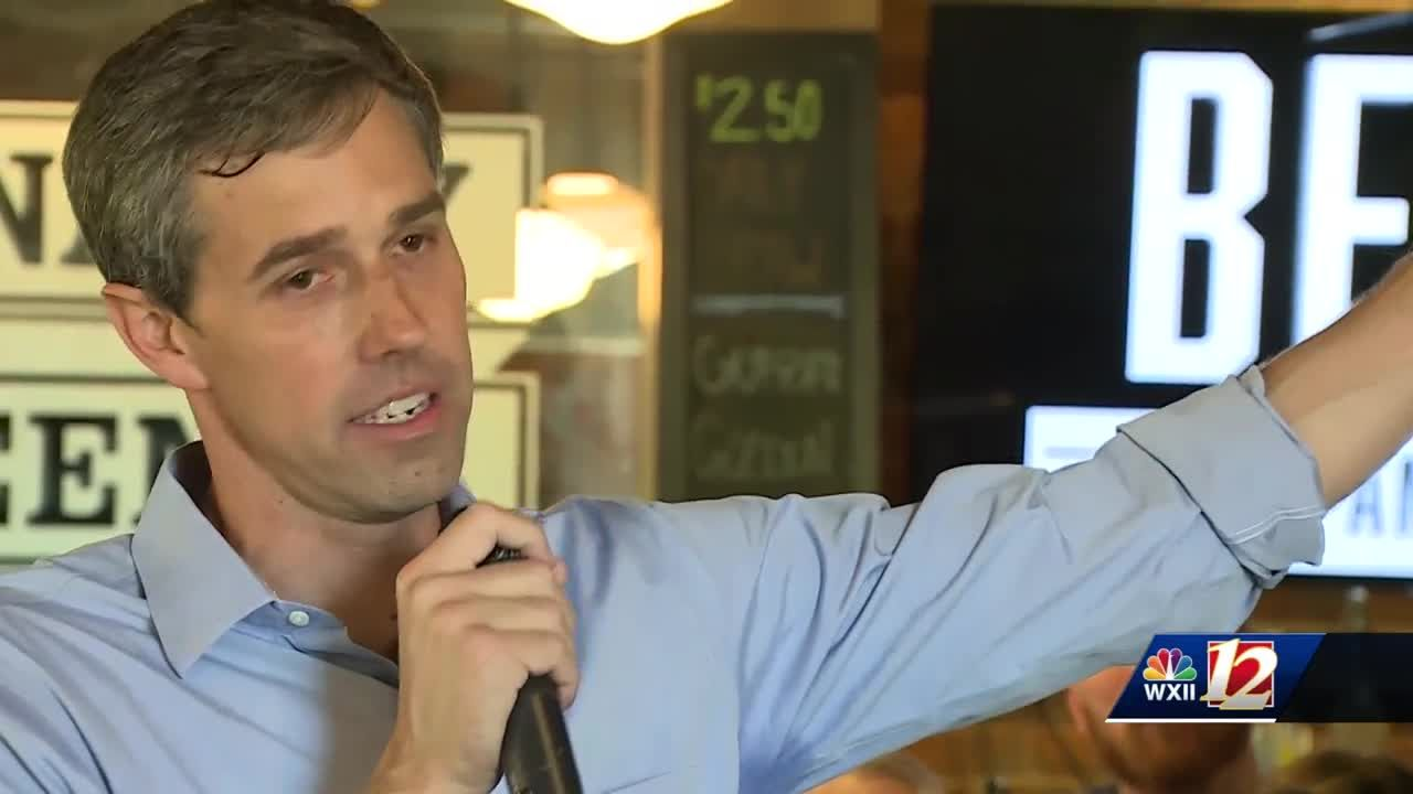Beto campaigns in Greensboro    first presidential candidate to visit the  Triad this year