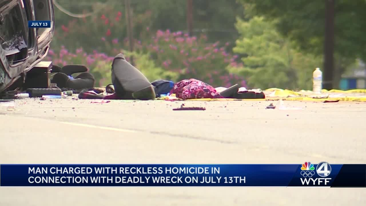 Man charged in Greenville crash that killed 2 people, police say