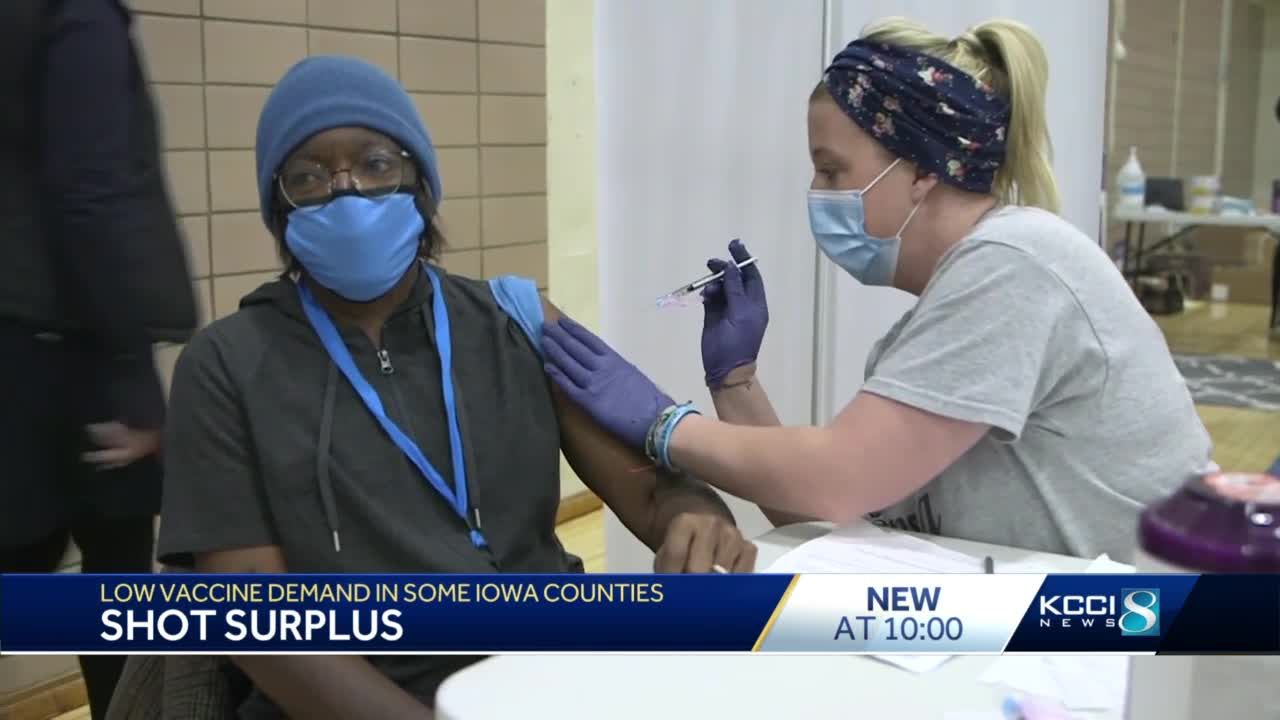 Some Iowa counties are seeing excess of COVID-19 vaccines still