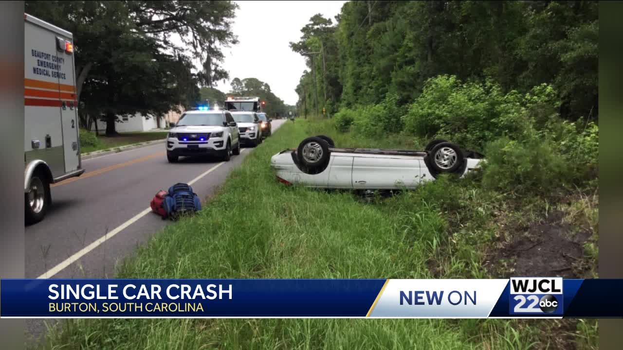 Single vehicle crash in Beaufort County results in injuries