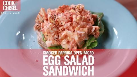 Quick Snack #1: Smoked Paprika Open-Faced Egg Salad Sandwich