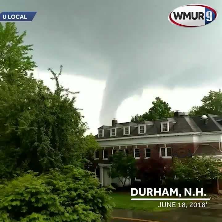 Raw video: Severe weather cloud observed in Durham