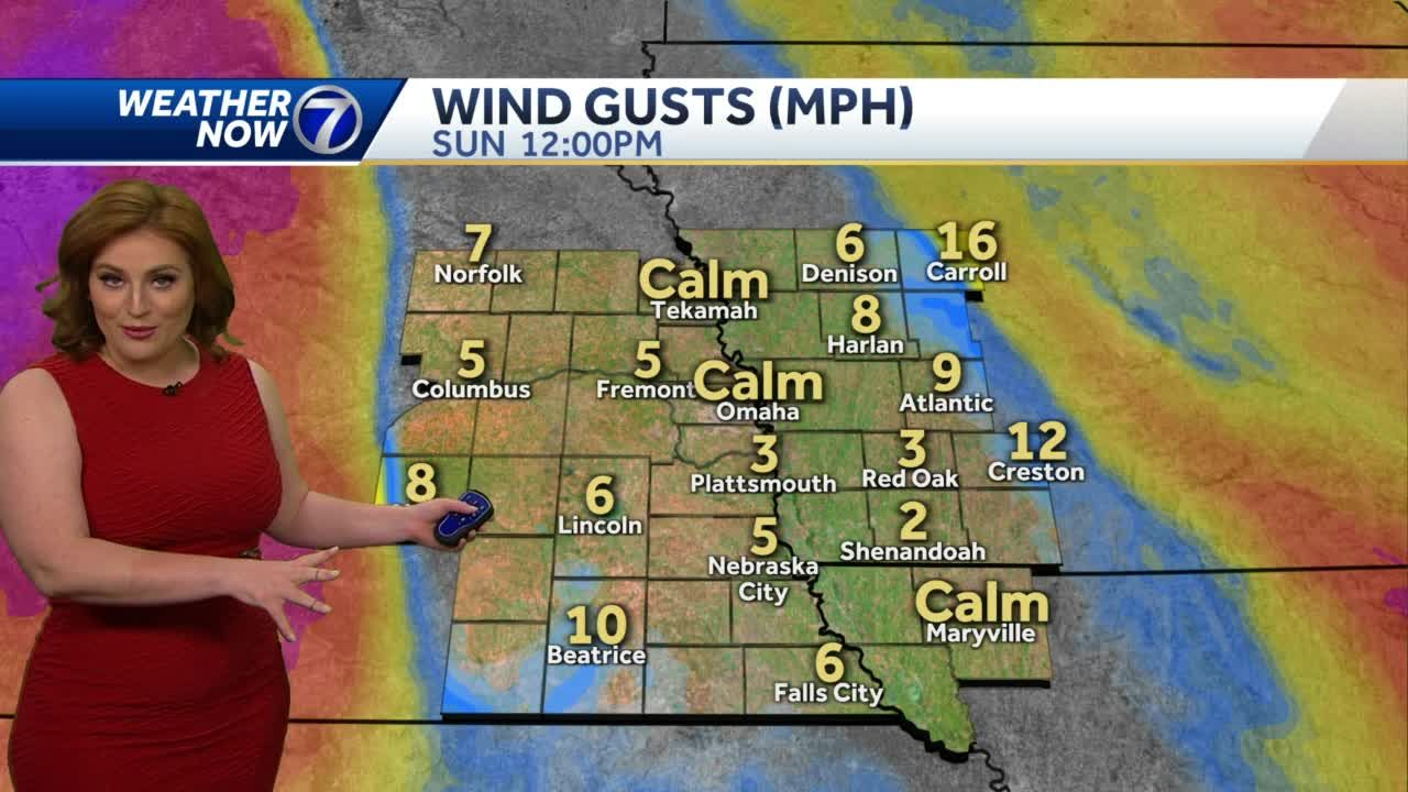 Warm and bright Sunday, gusty winds late this afternoon