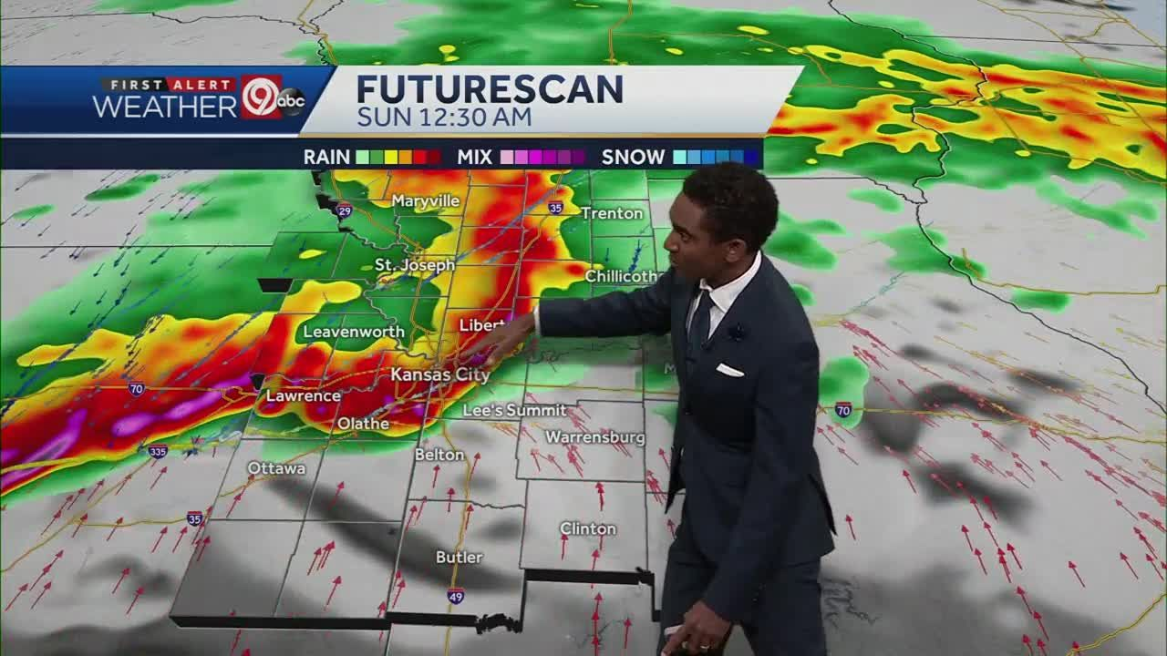 Damaging winds main threat with storms overnight