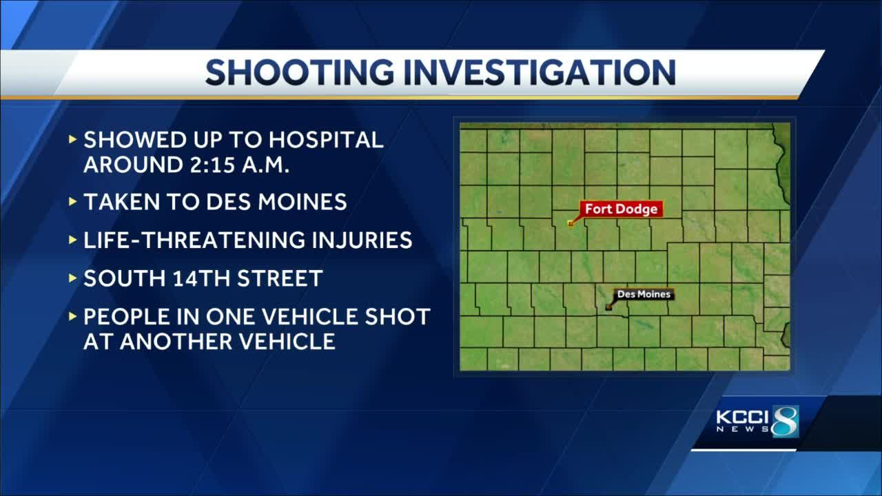 18-year-old suffers life-threatening injuries in Fort Dodge shooting