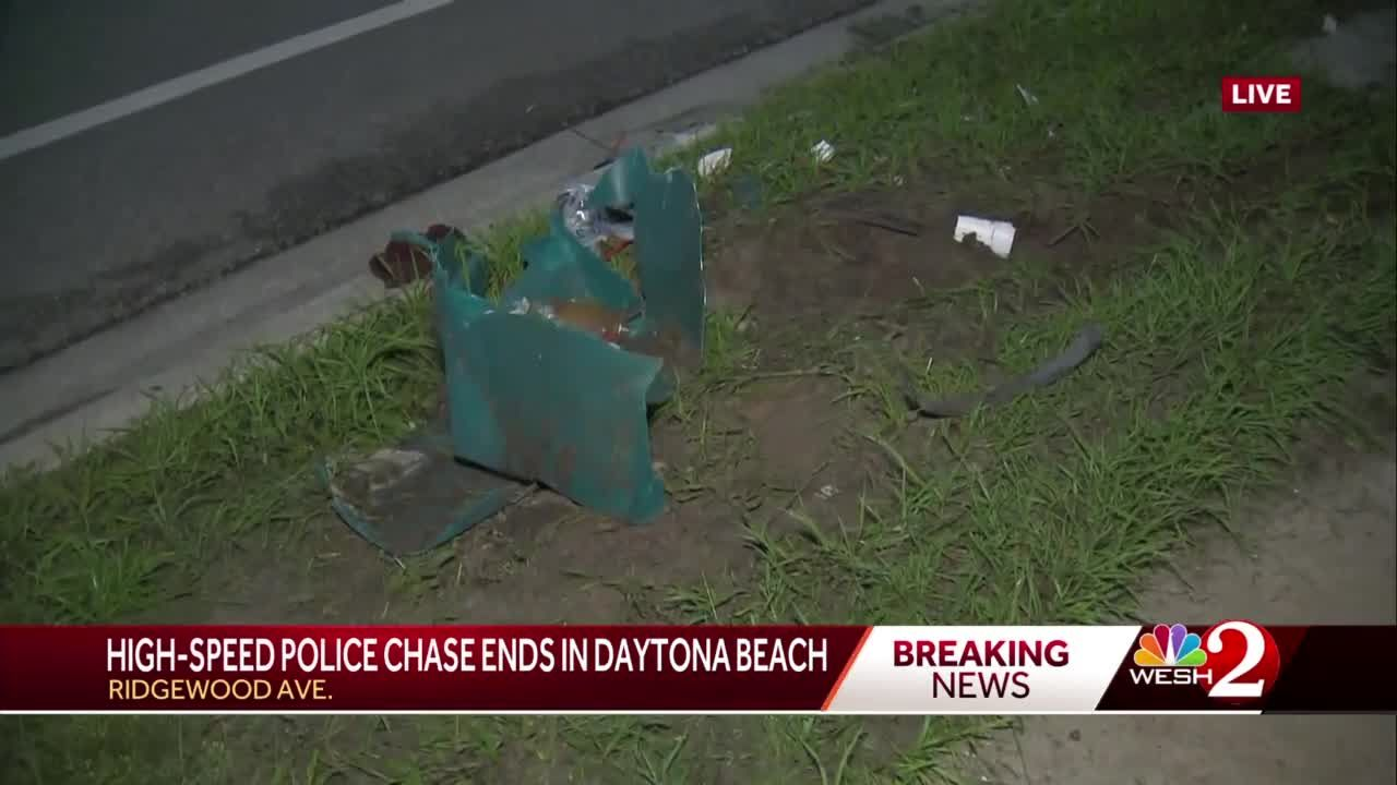 High-speed police chase ends in Daytona Beach