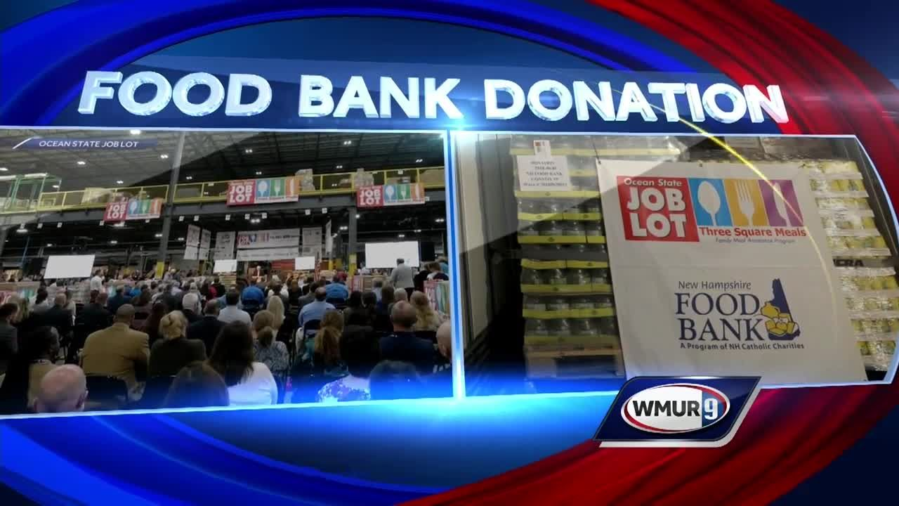 Ocean State Job Lot delivers 70,000 pounds of donated food to NH Food Bank