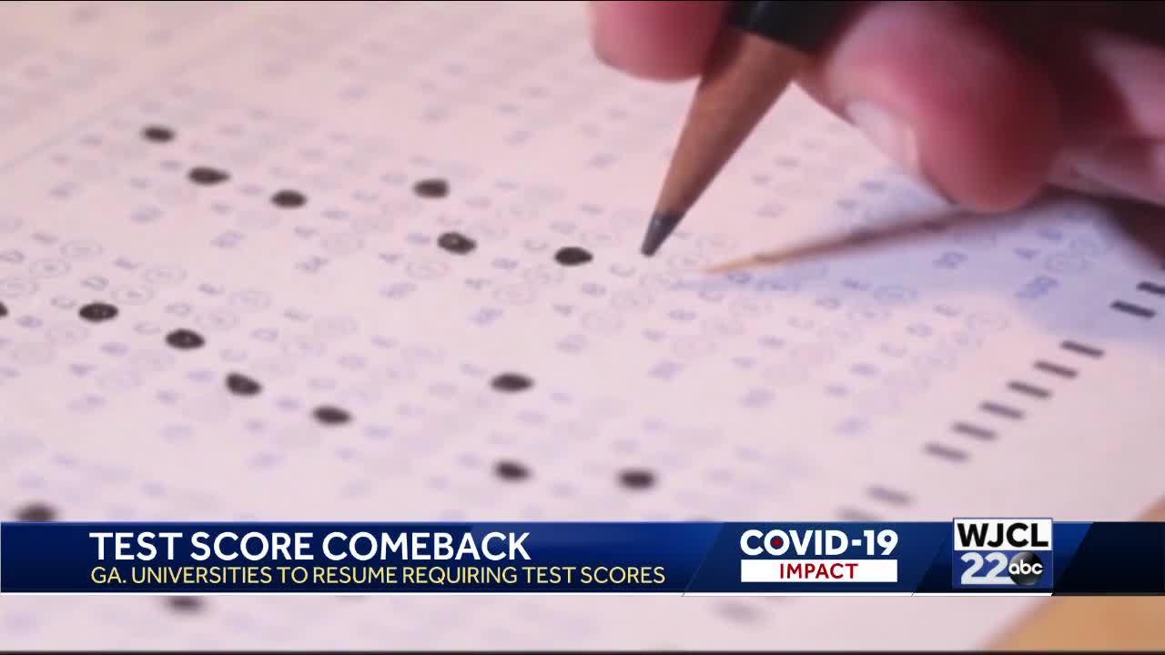 Georgia public universities to begin requiring standardized test scores again