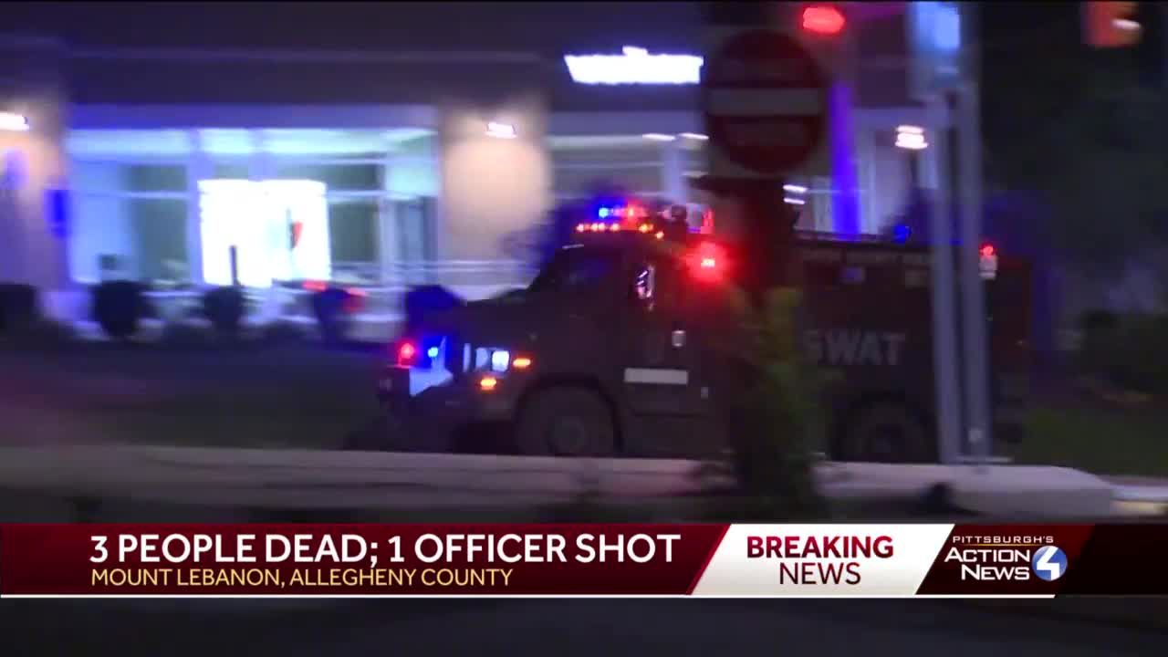 3 people dead, including suspect, and 2 officers injured following violent night in Mount Lebanon