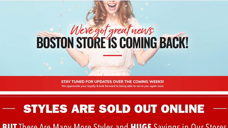 After barely closing its doors, Boston Store posts message saying it's  returning