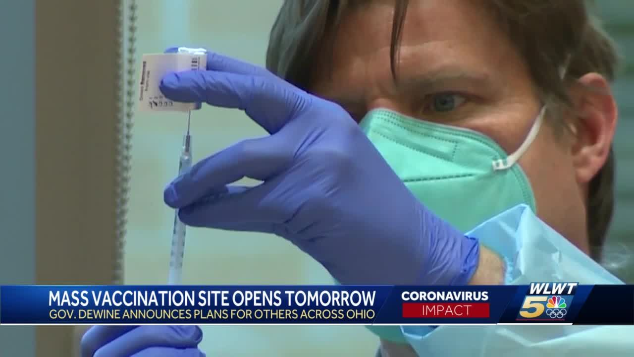 15 new mass vaccination sites to open across Ohio