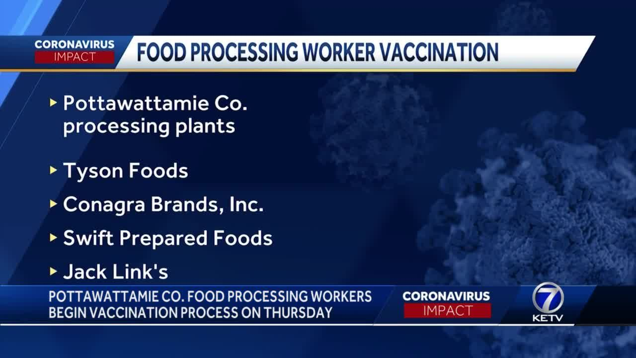 Pott. Co. food processing workers begin vaccination process on Thursday