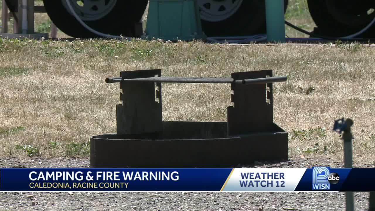 Campfire warning during drought, burn ban
