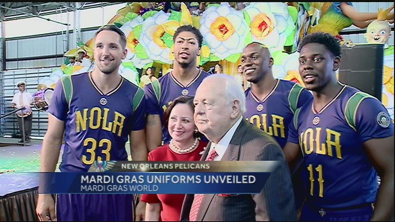 d647db04f00b Pelicans unveil Mardi Gras uniforms