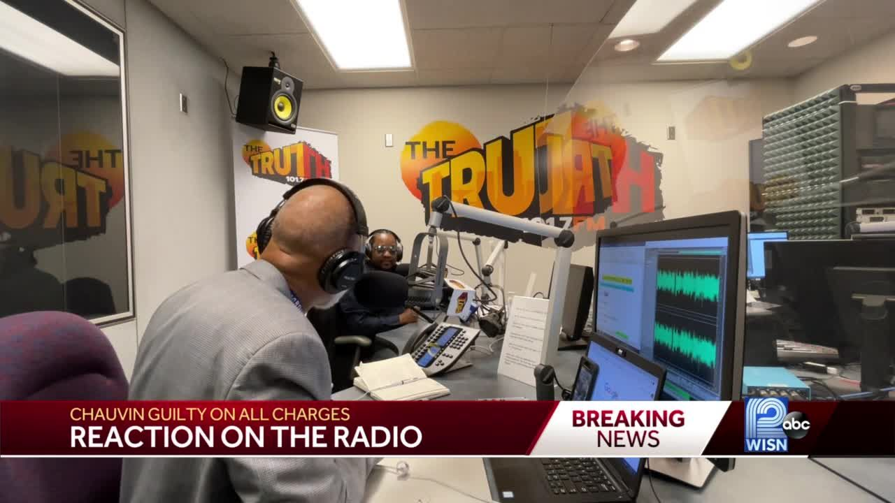 Milwaukee radio hosts react as Chauvin verdict came down