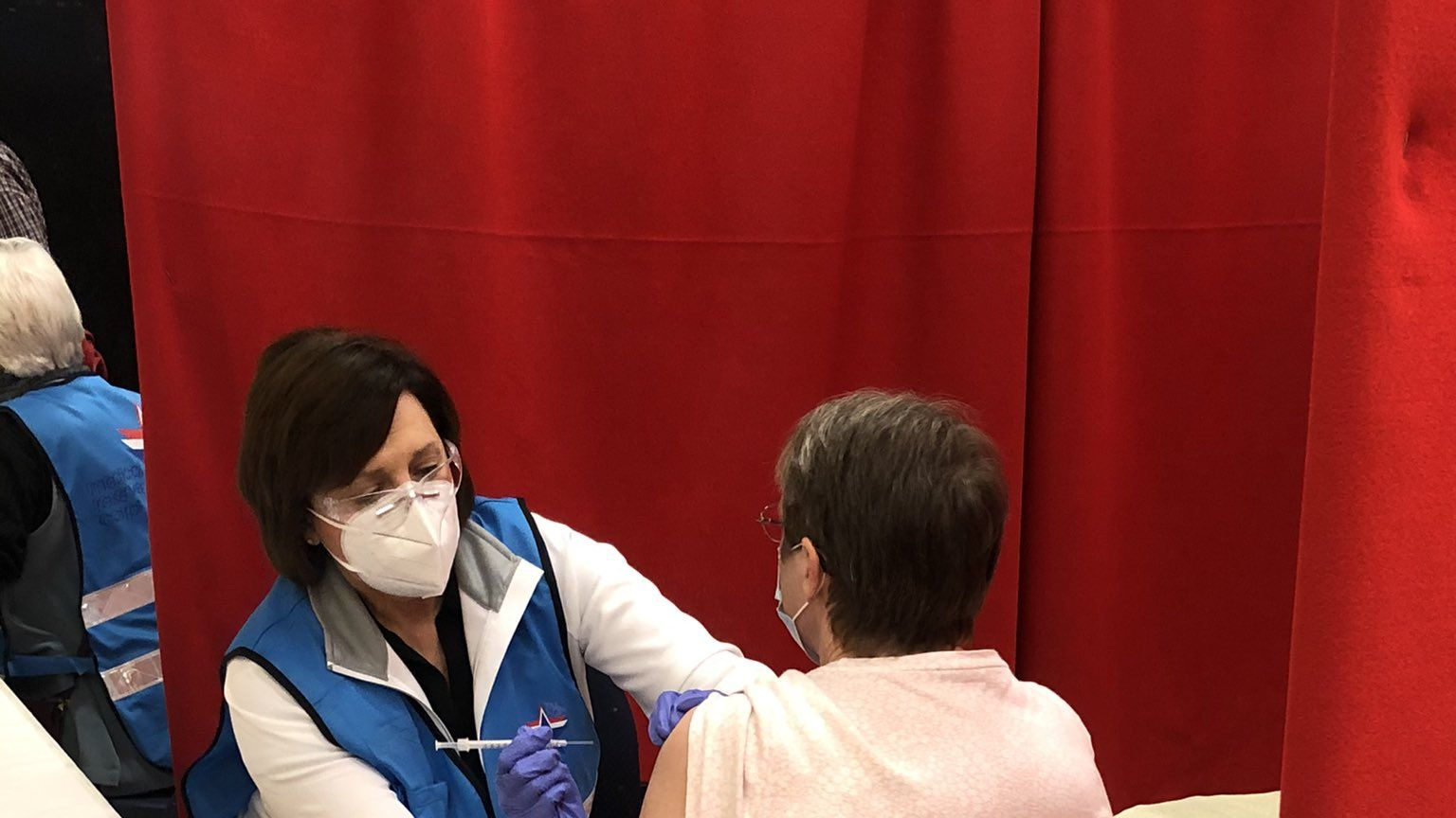 600 vaccinated at clinic inside Independence Center