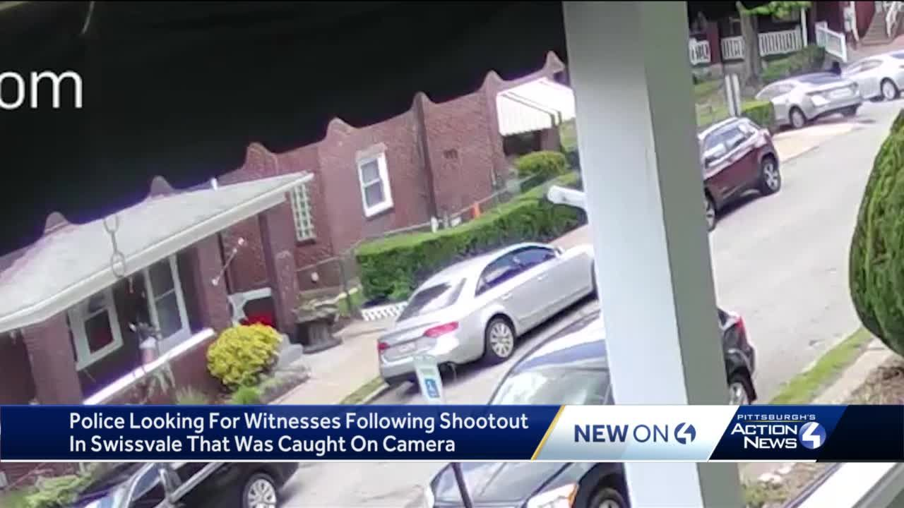 WATCH: Police looking for witnesses following shootout in Swissvale that was caught on camera