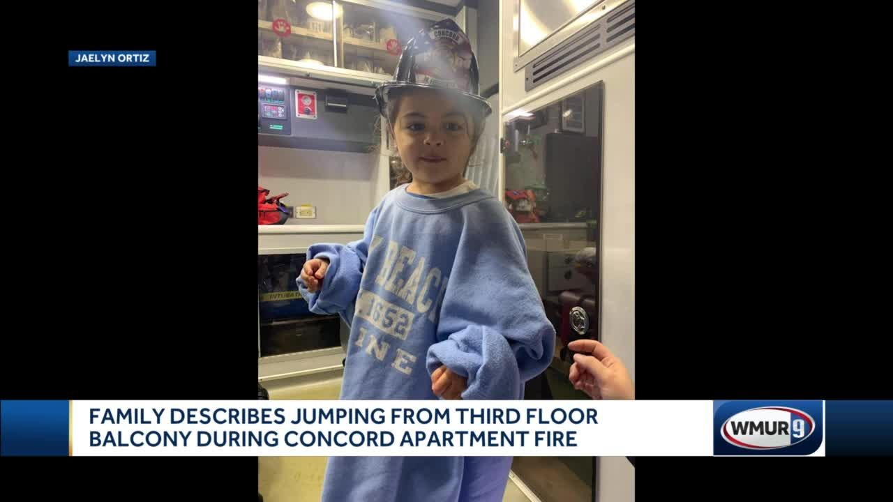 Family describes jumping from third floor balcony during Concord apartment fire