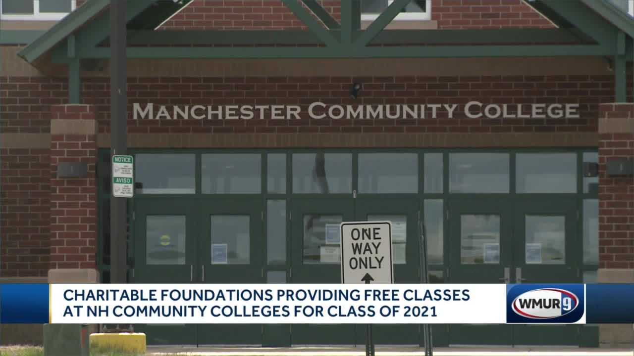 Charitable foundations providing free classes at NH community colleges for class of 2021