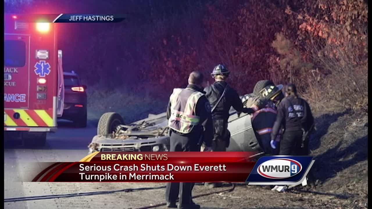 Traffic backs up after crash on Everett Turnpike