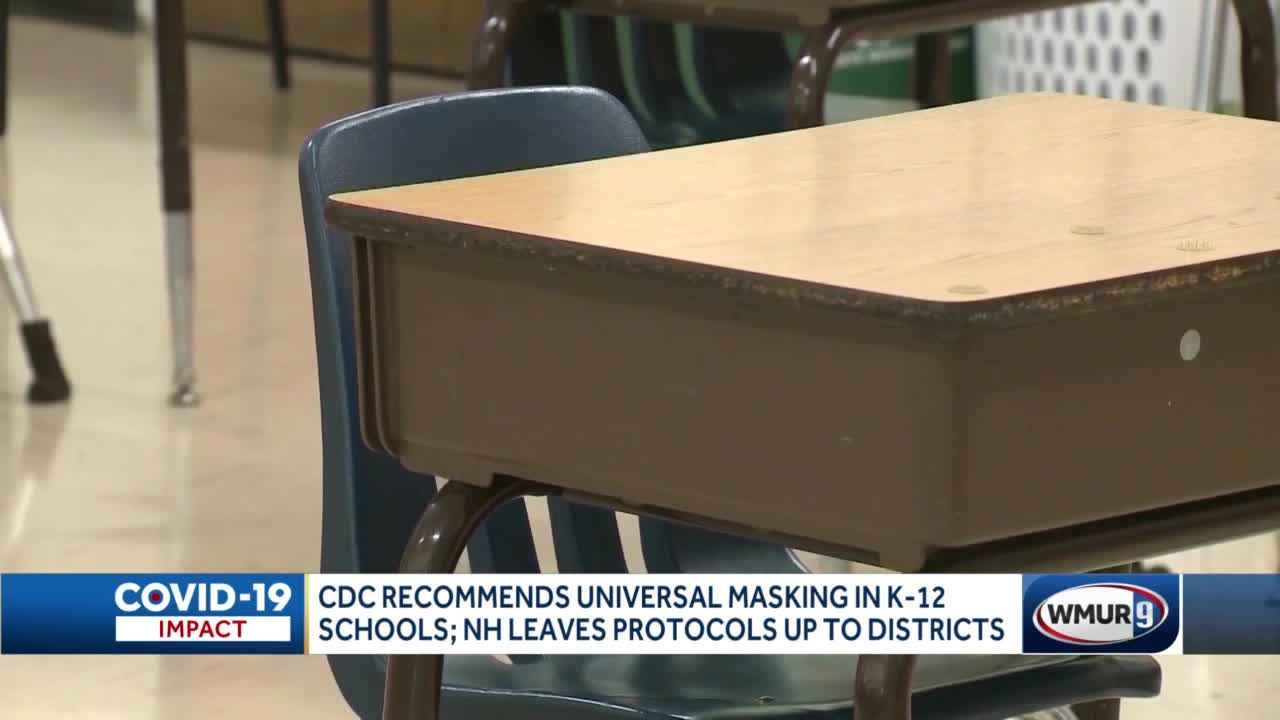 CDC recommends universal masking in K-12 schools