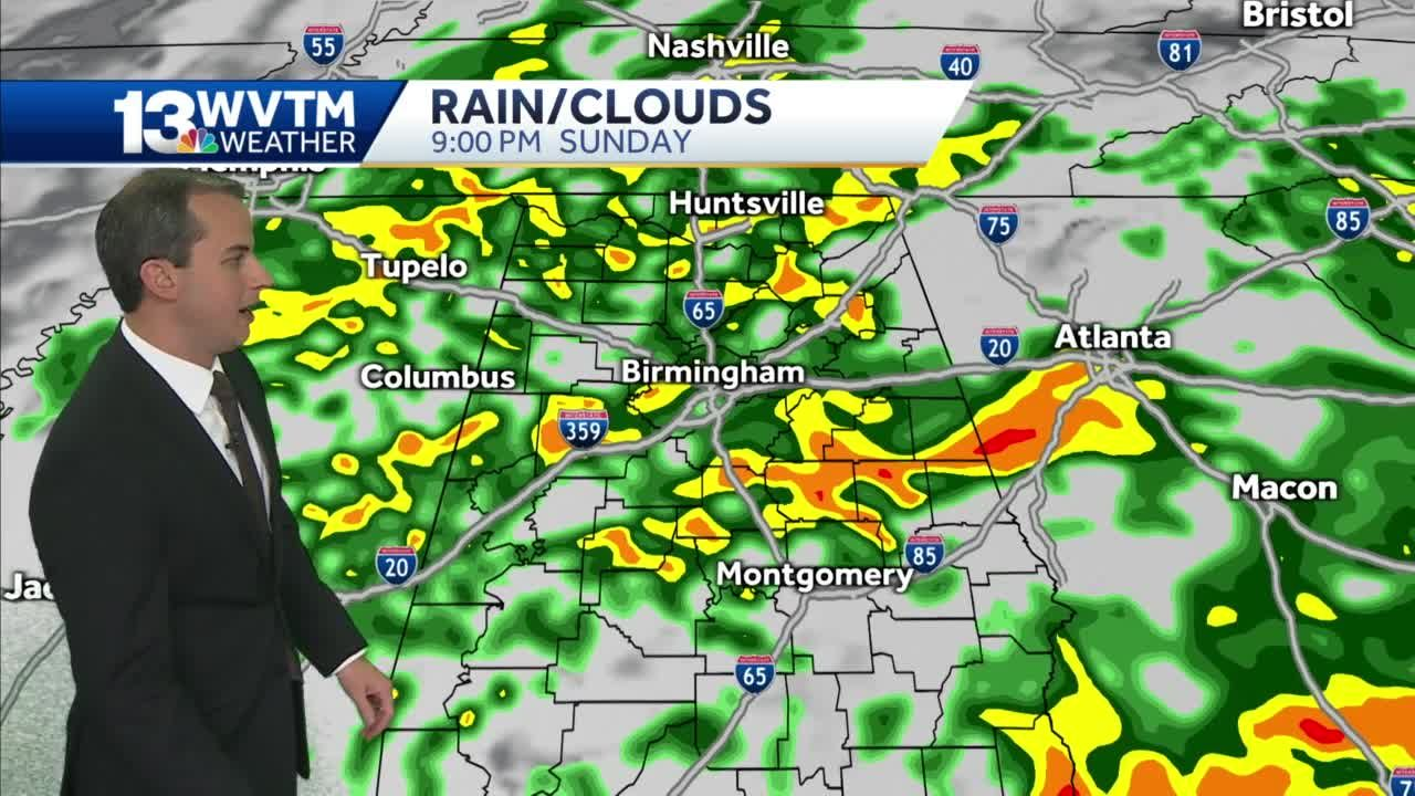 Rain returns for the end of the weekend