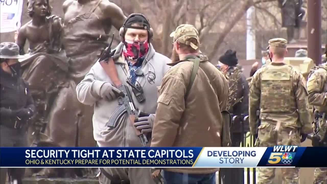 Ohio and Kentucky prepare for potential demonstrations at state capitols ahead of inauguration