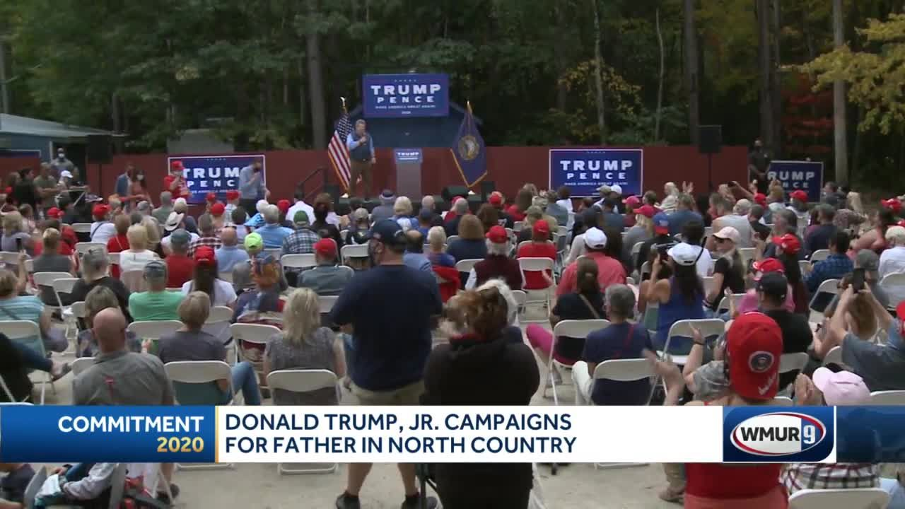 Donald Trump Jr. campaigns for father in North Country