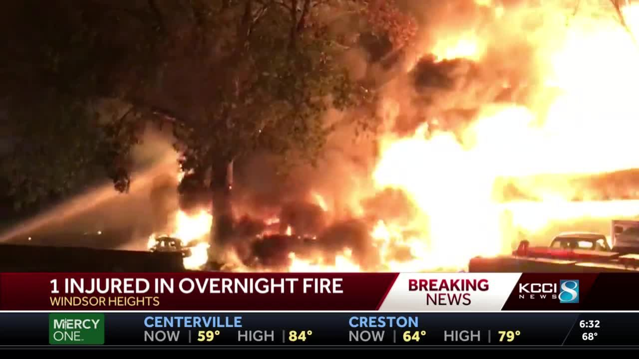 Injury reported, townhomes destroyed in overnight fire