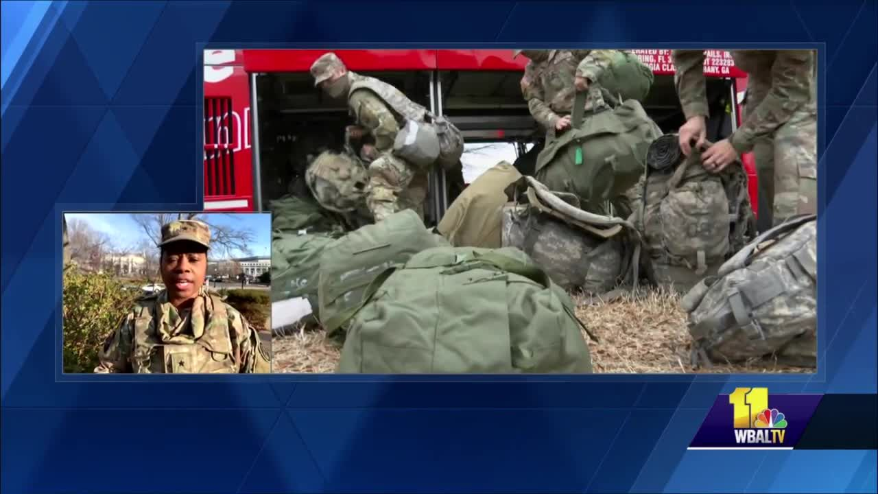 Maryland National Guard prepares for Inauguration Day