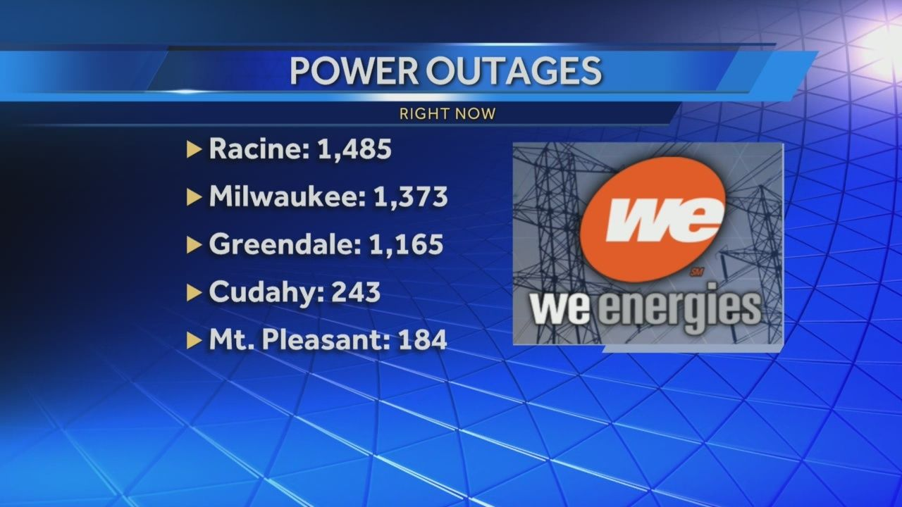 Morning storms cause a few power outages in SE Wisconsin