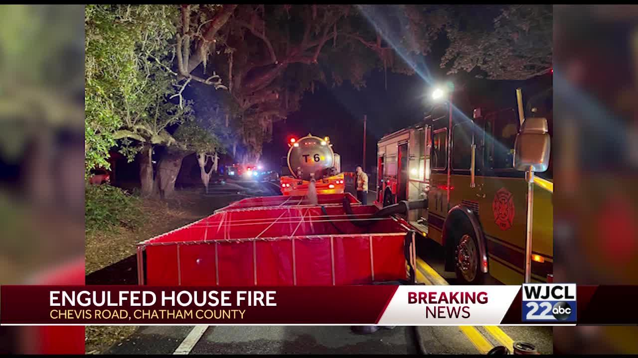 engulfed house fire chatham county