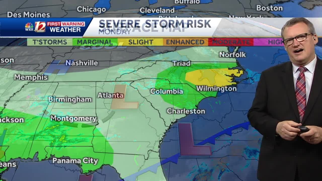WATCH: Occasional rain, isolated severe styorms