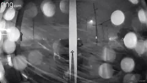 Security camera shows just how strong storm was that caused damage in Algiers