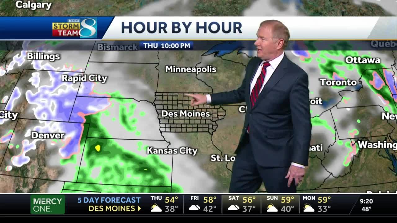 Sunny with 50s for Thursday