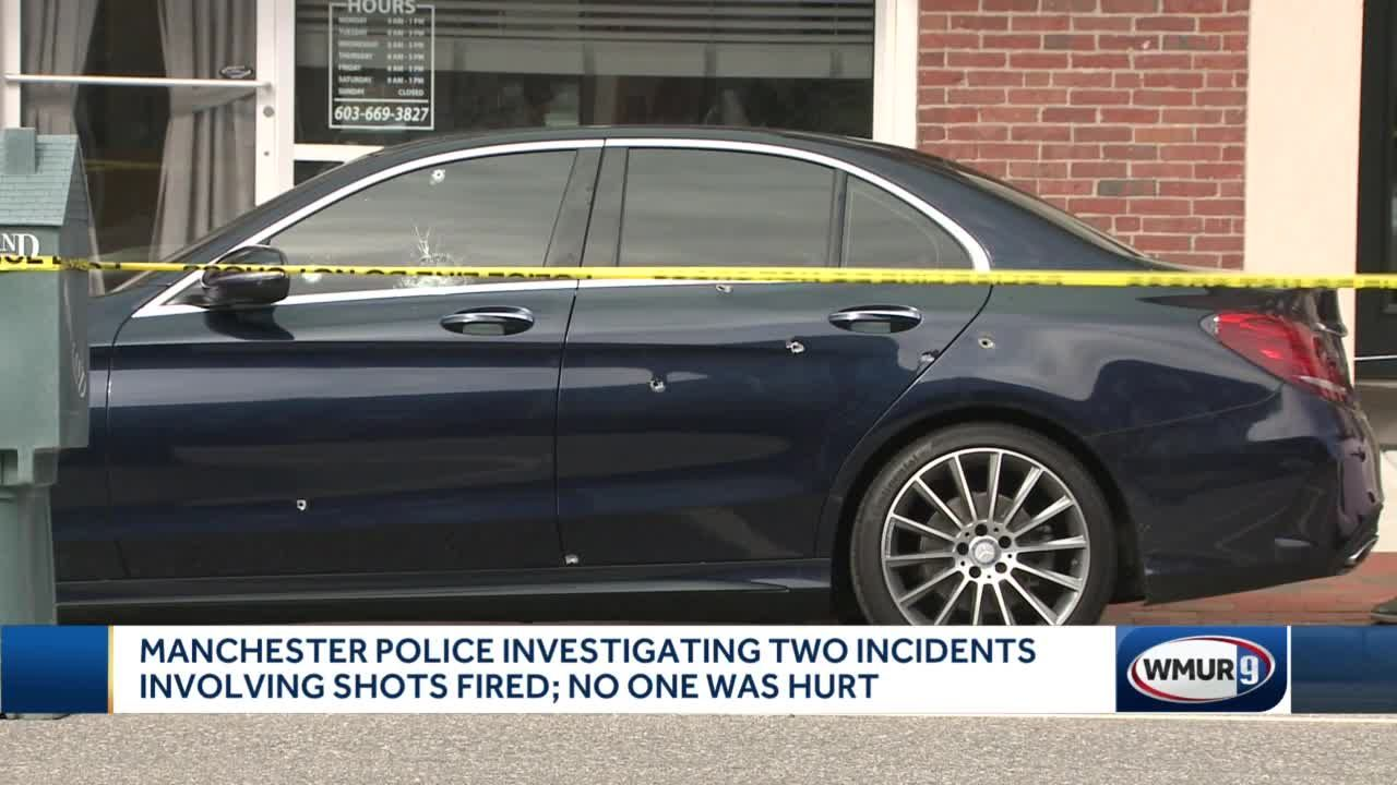 Manchester police investigating two incidents involving shots fired; no one was hurt