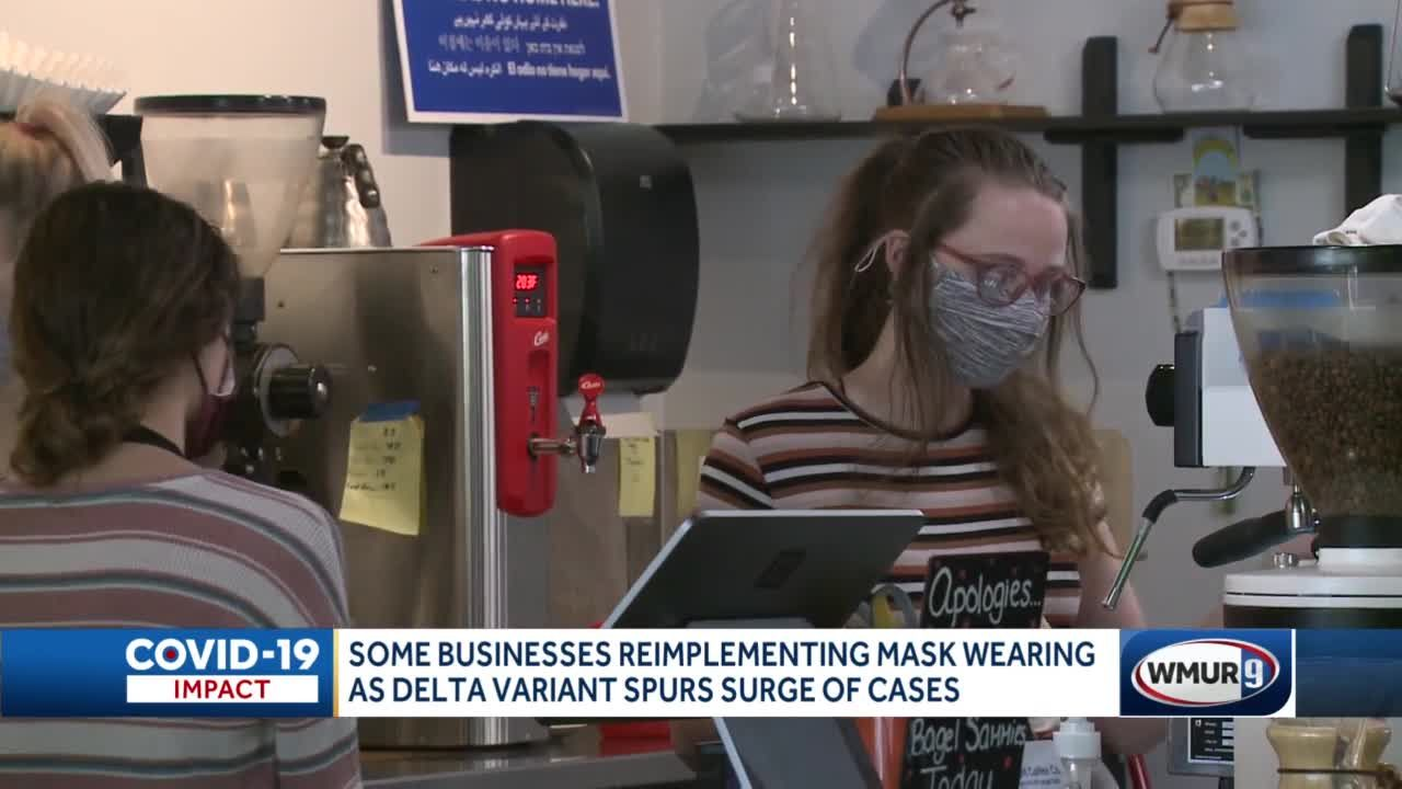 Mask wearing back in style at some businesses as COVID-19 cases increase