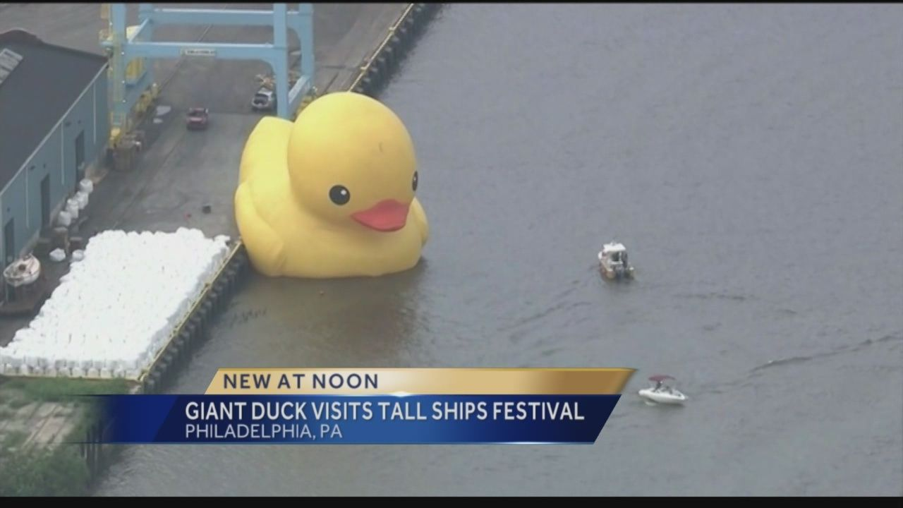 The giant duck floats back into Pennsylvania