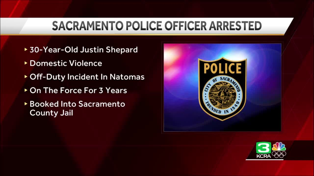 Officer arrested on domestic violence-related charges, Sacramento police say