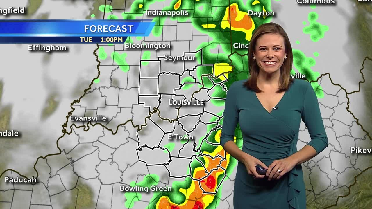 Showers/Storms Tapering Off This Afternoon
