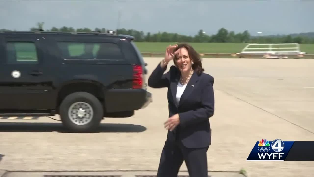The vice president kicks off nationwide vaccination tour in Upstate