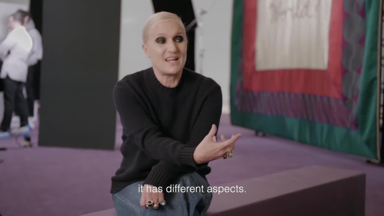 Dior's Maria Grazia Chiuri Describes The Making Of Her Haute Couture SS2020 Show
