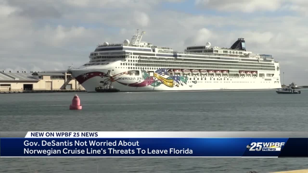 Gov. DeSantis not worried about Norwegian Cruise Line's threats to leave Florida